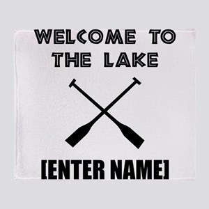 Welcome Lake [Personalize It!] Throw Blanket